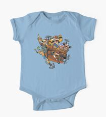 Father and His Children One Piece - Short Sleeve