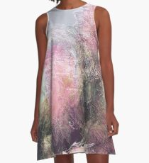 Wild Roses in Motion - Glitch A-Line Dress