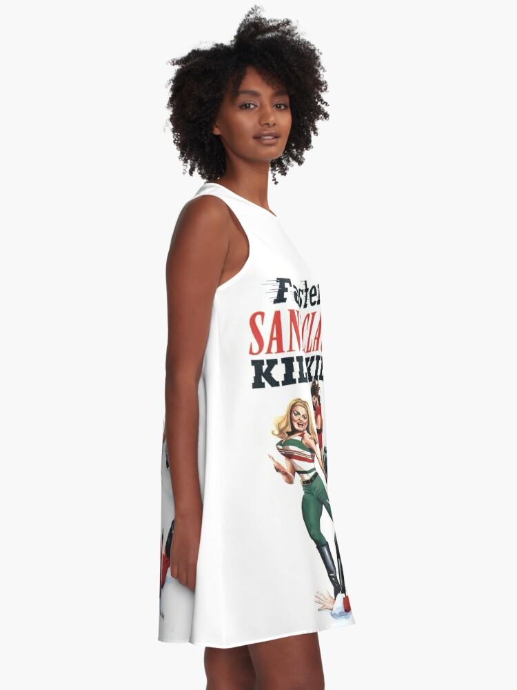 Alternate view of Faster Santaclaus! Kill! Kill! A-Line Dress