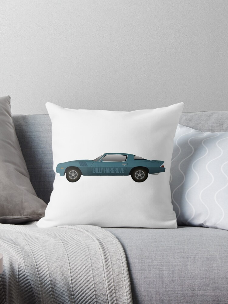 'Billy Hargrove Stranger Things Chevrolet Camaro' Throw Pillow by  MovieArtWork