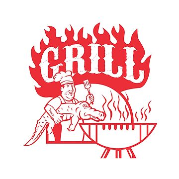 BBQ Chef Carry Gator Grill Retro by patrimonio