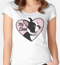 Boston Terrier My Love Women's Fitted Scoop T-Shirt