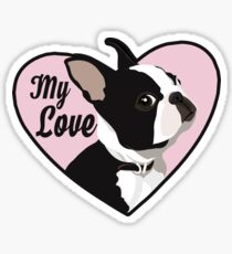 Boston Terrier My Love Sticker