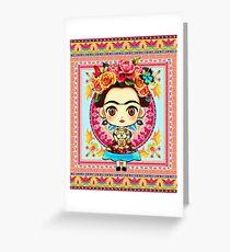 Frida Kahlo Anime Greeting Card