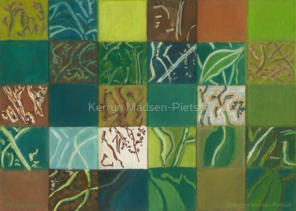 Euca Abstract (Flat Detail Section 1) by Kerryn Madsen-Pietsch