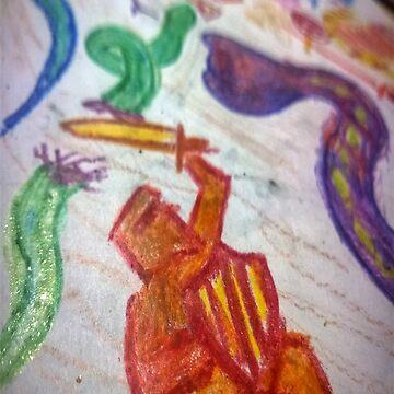 Crayon Knight by tompanter