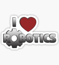 I Love Robotics Sticker