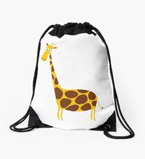 Giraffe funny Drawstring Bag