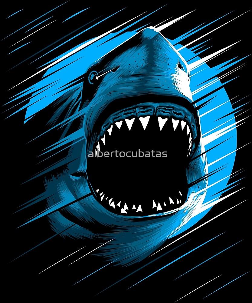 Shark Moon Lines By Albertocubatas Redbubble