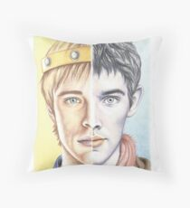 """""""Two sides of the same coin"""" Throw Pillow"""