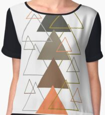 TRIANGLE Women's Chiffon Top