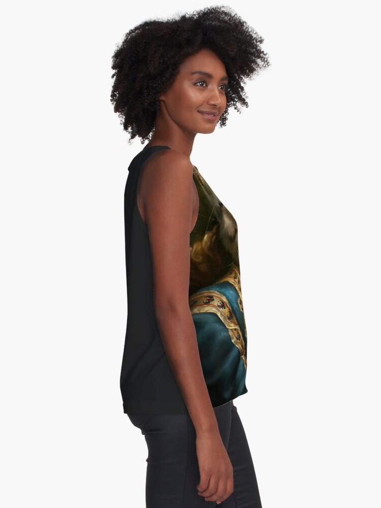 Alternate view of The Hermitage Court Outrunner Cat  Sleeveless Top