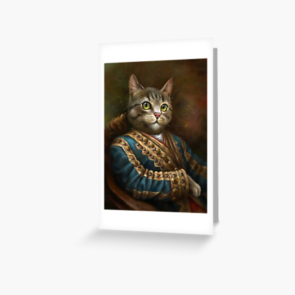 The Hermitage Court Outrunner Cat  Greeting Card