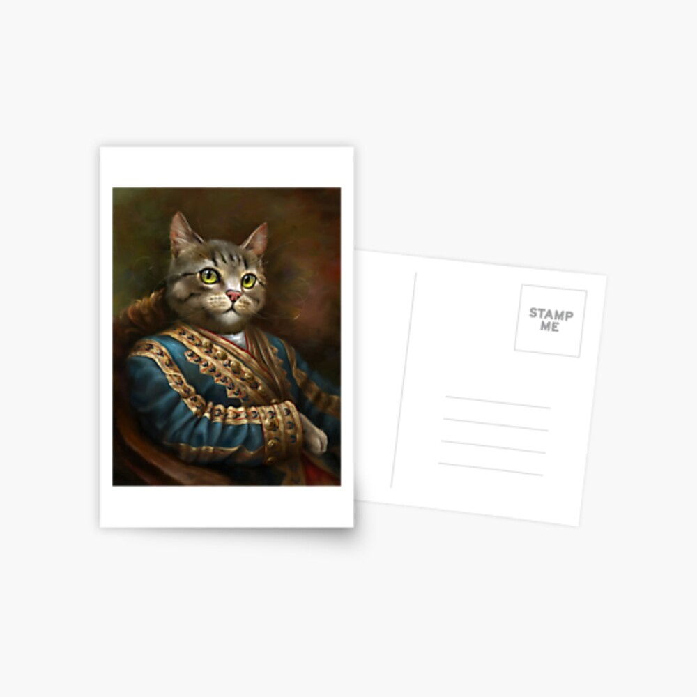 The Hermitage Court Outrunner Cat  Postcard