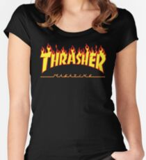 TRASHER LOGO Women's Fitted Scoop T-Shirt
