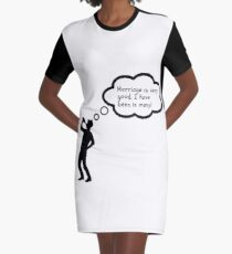 bachelor, Marriage is very good i have been in many, wedding, bride, husband, funny engaged, funny married couple Graphic T-Shirt Dress