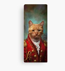 Court General Wise Cat  Canvas Print