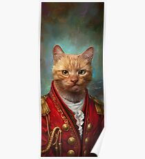 Court General Wise Cat  Poster