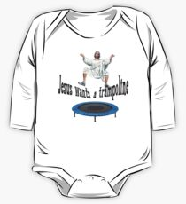 Shooting Stars Jesus and his Trampoline One Piece - Long Sleeve