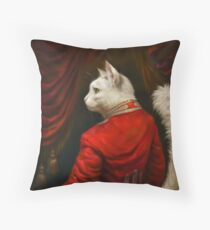 The Hermitage Court Chamber Herald Cat Edited version Throw Pillow