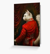Tarjeta de felicitación La versión del Hermitage Court Chamber Herald Cat Edited