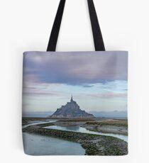 Bolsa de tela Vista de Mont Saint Michel Normandy, Francia