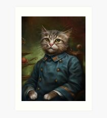 The Hermitage Court Confectioner Apprentice Cat  Art Print