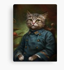 The Hermitage Court Confectioner Apprentice Cat  Canvas Print