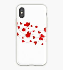 Hearts and Butterflies iPhone Case