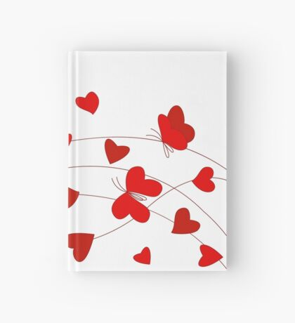 Hearts and Butterflies Hardcover Journal