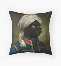 The Hermitage Court Moor Cat  Throw Pillow