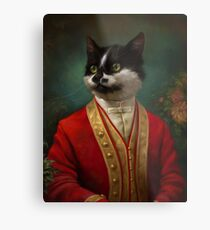 The Hermitage Court Waiter Cat Metal Print