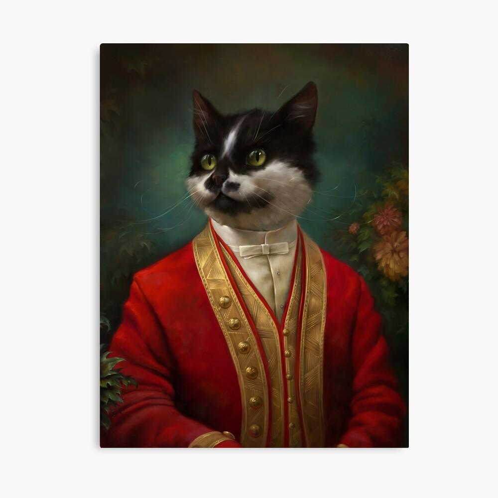 Die Hermitage Gericht Kellner Cat Leinwanddruck