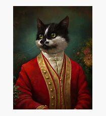 The Hermitage Court Waiter Cat Photographic Print