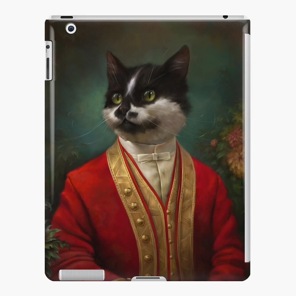The Hermitage Court Camarero Gato Funda y vinilo para iPad