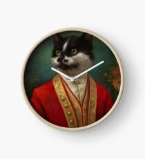 The Hermitage Court Waiter Cat Clock