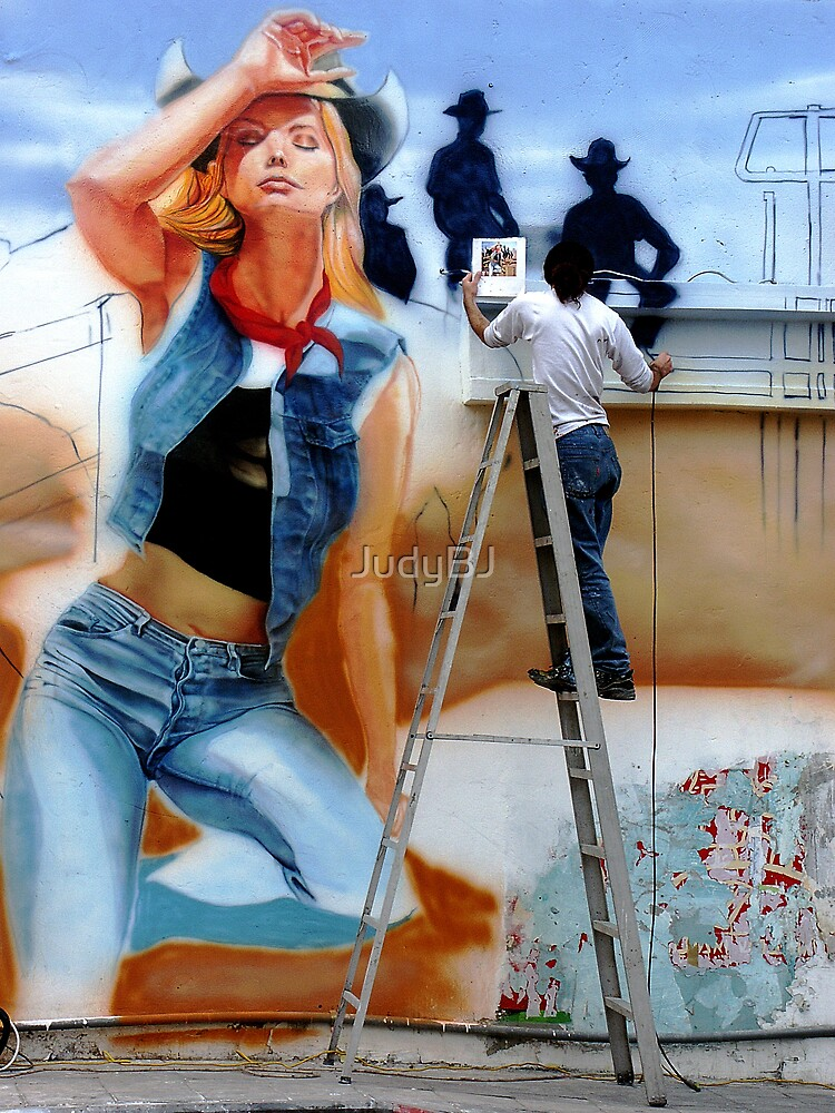 Painting the town by JudyBJ