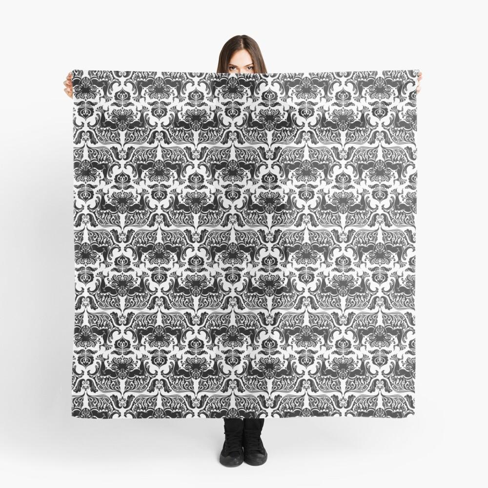 Ich liebe Handwerk (Cthulhu Damask Black and White) Tuch