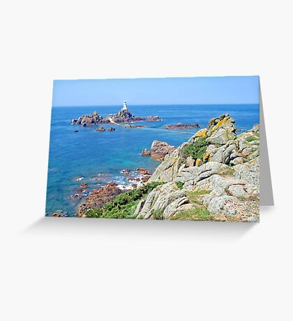 Coastline of the isle of Jersey (UK) Greeting Card