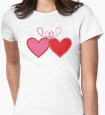 Cross-linked Hearts Women's Fitted T-Shirt