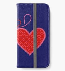 Cross-linked Hearts iPhone Wallet/Case/Skin