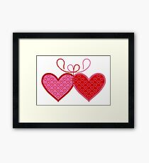 Cross-linked Hearts Framed Print