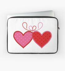 Cross-linked Hearts Laptop Sleeve