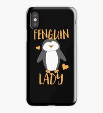 Penguin Lady iPhone Case