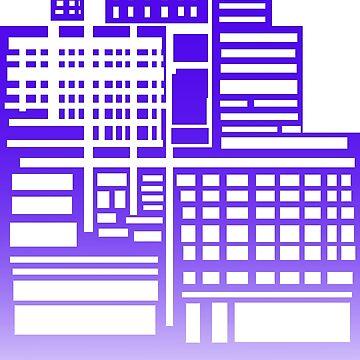8-Bit City by sketchbooksage
