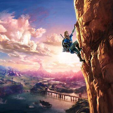 Zelda Breath of the Wild poster art by Habitue