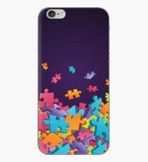 Dark Puzzle Pieces iPhone Case
