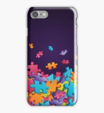 Dark Puzzle Pieces iPhone Case/Skin