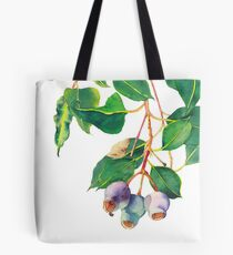 Eucalyptus branch with gumnuts - watercolour Tote Bag