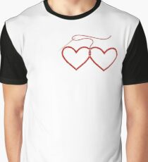 Stitched Hearts Graphic T-Shirt